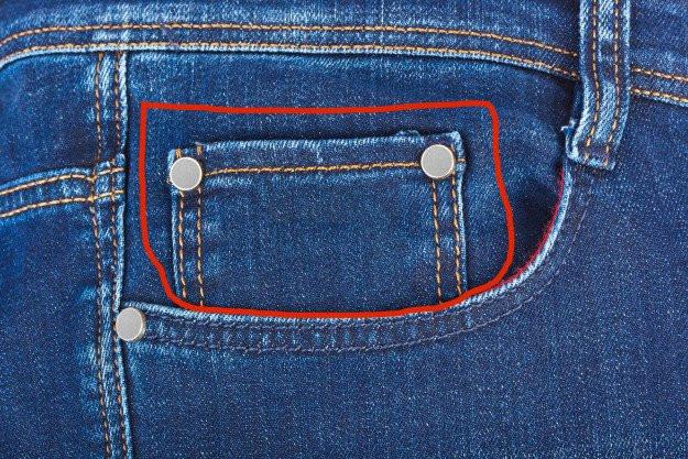 Túi nhỏ ở quần jean