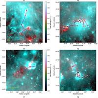 Cận cảnh những bộ xương đỏ kỳ quái trong thiên hà Milky Way