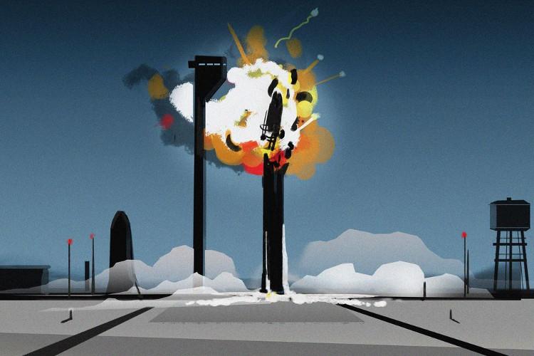 Nổ tên lửa trước khi rời khỏi Trái đất