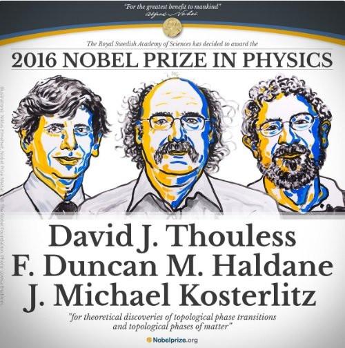 Bộ ba nhà khoa học thắng giải Nobel Vật lý 2016