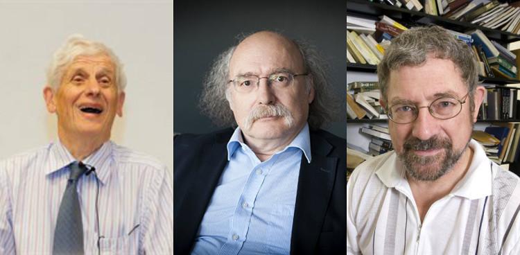 Ba nhà khoa học đạt giải Nobel Vật lý 2016 (theo thứ tự từ trái sang) David Thouless, Duncan Haldane và Michael Kosterlitz.