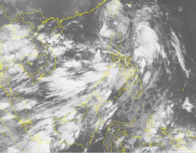 Hình ảnh bão Aere qua vệ tinh.
