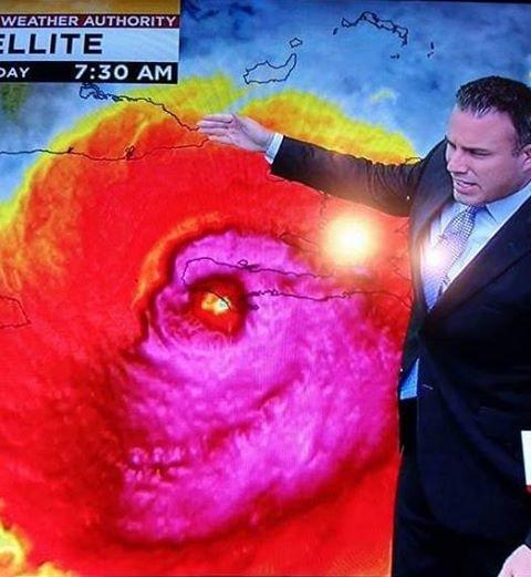 """Cơn bão """"quái vật"""" Matthew."""