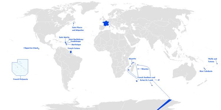 Pháp và các vùng lãnh thổ thuộc Pháp.