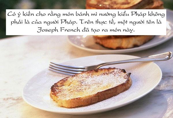 Món bánh mì nướng kiểu Pháp do Joseph French tạo ra.