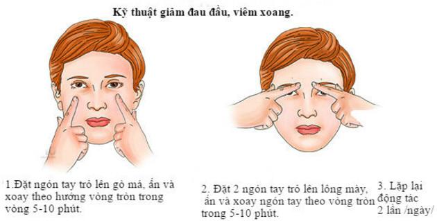 Cách chữa đau đầu, viêm xoang theo Shiatsu