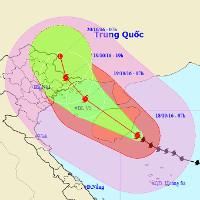 Cơn bão số 7 có thể vào Quảng Ninh - Hải Phòng
