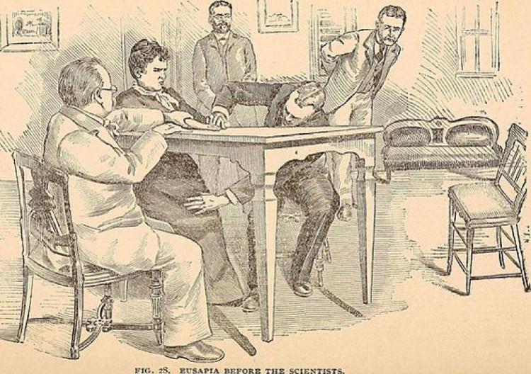 Ảnh minh họa từ cuốn sách năm 1897 Hours with the Ghost