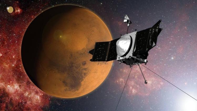 Tàu thăm dò không gian MAVEN được phóng lên sao Hỏa vào tháng 11/2013 về đến hành tinh đỏ vào tháng 9/2014.