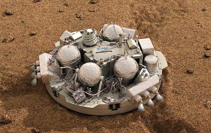 Robot Schiaparelli có thể đâm xuống bề mặt sao Hỏa ở tốc độ cao.