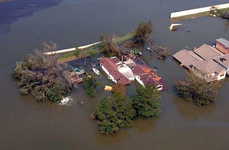 Bão Katrina hồi năm 2005 là cơn bão mạnh thứ 6 trong lịch sử từng đổ bộ vào nước Mỹ.