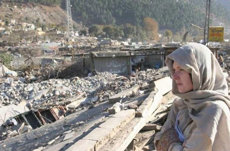 Động đất ở Pakistan năm 2005 có vị trí tâm chấn ở vùng Kasshmir gần thành phố Muzaffarabad.
