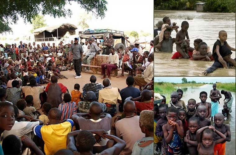 Trận lũ lụt ở Mozambique (2000) xảy ra sau những trận mưa như trút không ngừng trong suốt 5 tuần liền.