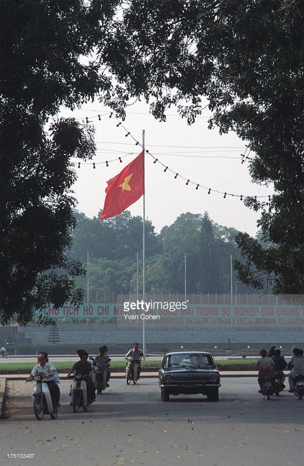 Quảng trường Ba Đình nhìn từ phía đường Điện Biên Phủ.