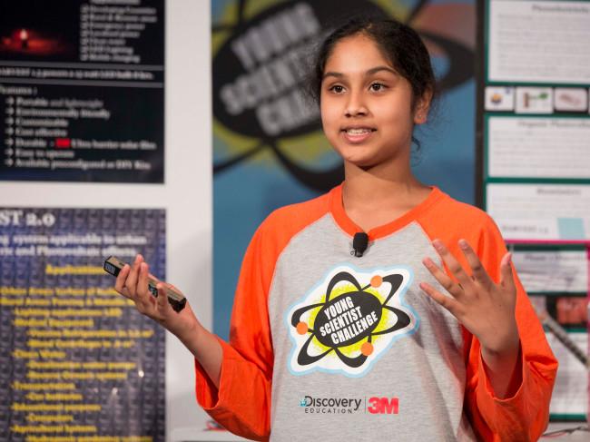 Maanasa Mendu – Cô bé đoạt giải cao nhất tại Young Scienctist Challenge.