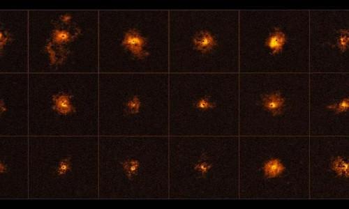 Hình ảnh các chuẩn tinh có quầng sáng trong vũ trụ.