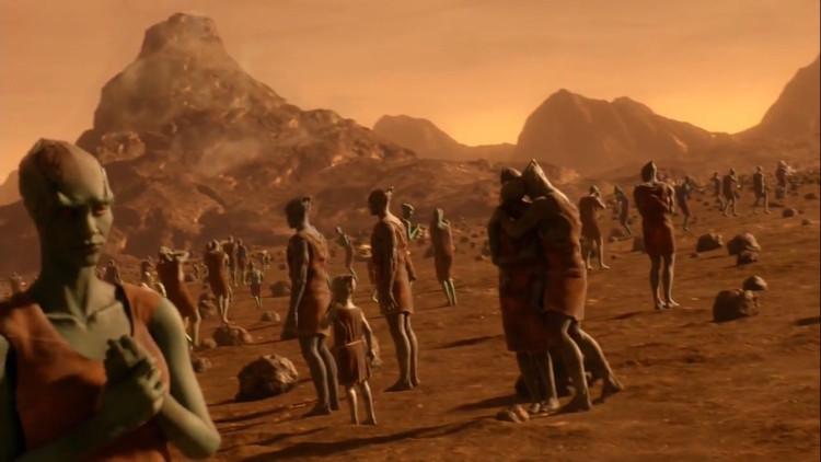 Phác họa người sao Hỏa.