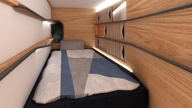Những chiếc giường sẽ được sử dụng như ghế/đệm an toàn khi cất cánh và hạ cánh