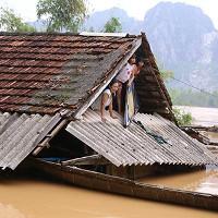 Nhiều người Quảng Bình ăn cơm trắng, mì tôm sống trên mái nhà