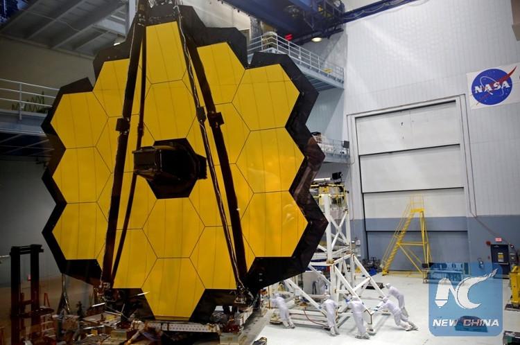Kính viễn vọng James Webb được hoàn thiện tại Trung tâm bay vũ trụ Goddard của NASA ở Greenbelt, Maryland, Mỹ.