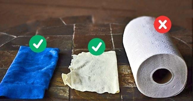 Sử dụng vải sợi mỏng để lau chùi. Không nên dùng giấy vì chúng sẽ làm xước thiết bị.