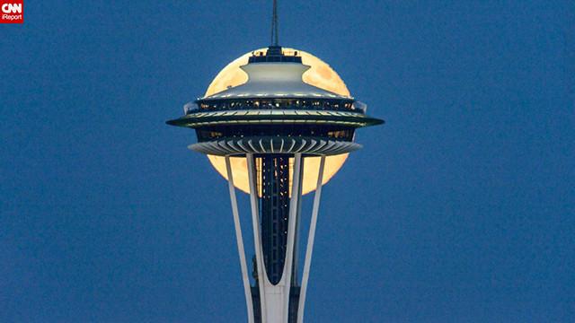 Siêu Mặt trăng ở Seattle