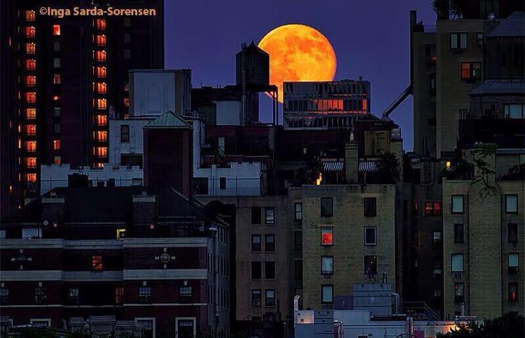 Siêu Mặt trăng ở New York