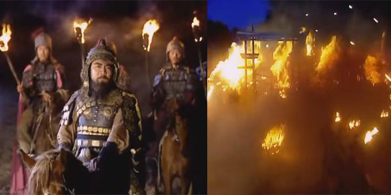 Tào Tháo đốt cháy kho lương lớn nhất của Viên Thiệu tại Ô Sào, chính thức xoay chuyển 180 độ cục diện trận chiến.