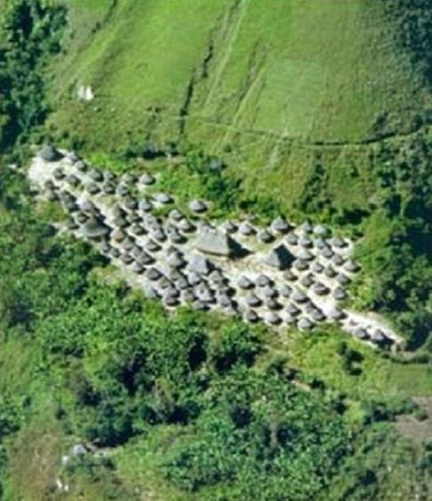 Làng của người Kogi nhìn từ trên cao.