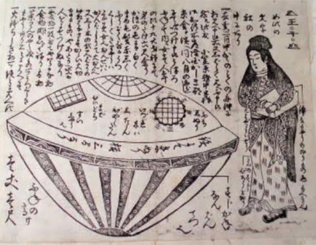 Thông qua mái vòm kính, các nhân chứng đã nhìn thấy các ký tự của một loại ngôn ngữ chưa được biết đến và hàng loại chai lọ chứa chất lỏng, có lẽ là nước.