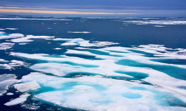 Những tảng băng ở vùng Bắc Cực của Canada.