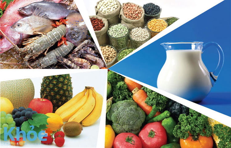 Các loại thực phẩm chứa nhiều canxi.