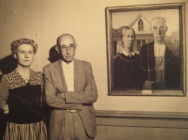 Nguyên mẫu chính của bức họa American Gothic trị giá hàng chục triệu USD.