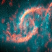 """""""Con mắt vũ trụ"""" hiện ra từ cuộc đụng độ giữa hai thiên hà"""