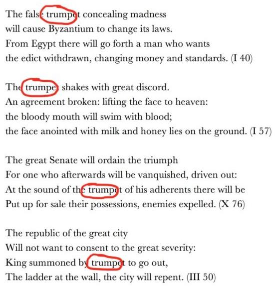 Những câu thơ của nhà tiên tri Nostradamus ám chỉ về Tổng thống Trump và những hậu quả do ông để lại.