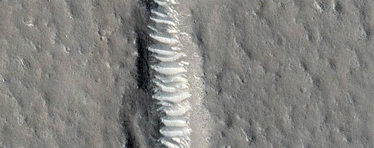 Vết nứt kỳ lạ ở Utopia Planitia