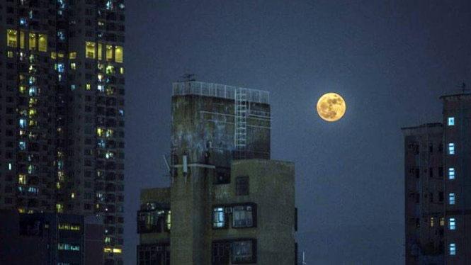 Siêu trăng tại đảo Cửu Long, Hong Kong
