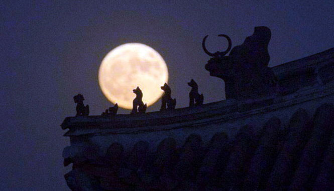 Siêu trăng tại Tử Cấm Thành, Bắc Kinh, Trung Quốc