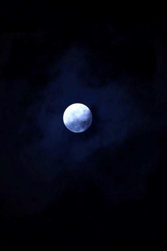Siêu trăng chụp từ SVĐ Mỹ Đình (Hà Nội).