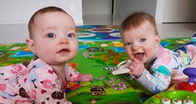 Hai bé khác nhau về vẻ ngoài, chiều cao, cân nặng và cả nhóm máu.