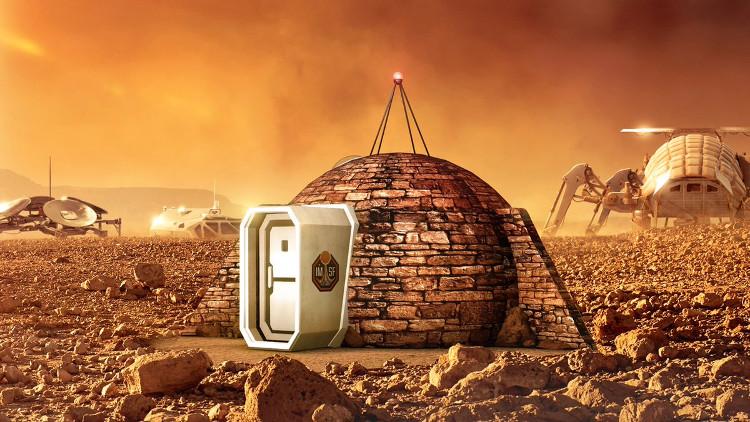 Mô hình nhà ở trên sao Hỏa trong tương lai.