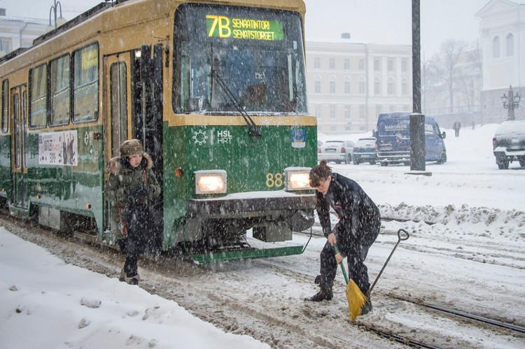 Nhiệt độ ở thủ đô Helsinki của Phần Lan rơi xuống mức -8 độ C.