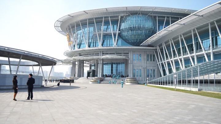 Kiến trúc thư viện điện tử ở Tổ hợp Công nghệ Bình Nhưỡng.