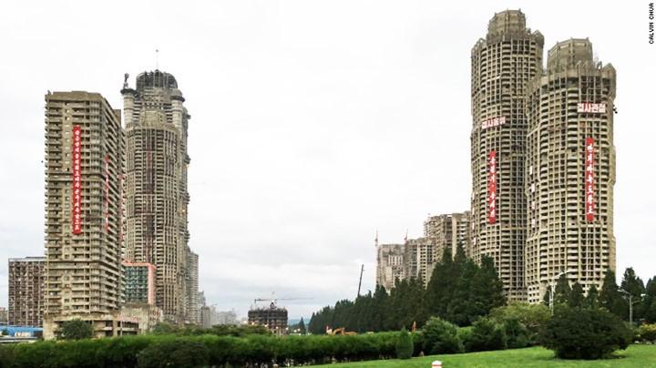 Khu đô thị mới ở phố Ryomong đang trong quá trình hoàn thiện.