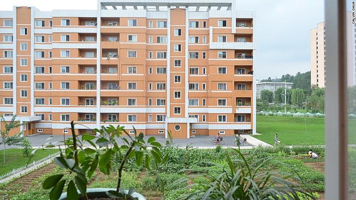 Những căn hộ thông minh trong một chung cư kiểu mới ở Bình Nhưỡng.