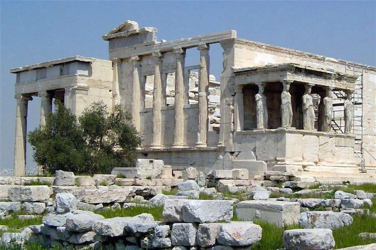 Erechtheum, đền thờ Hy Lạp cổ đại tại Vệ thành Athens. Đây là đền thờ thần Poseidon và Athena.