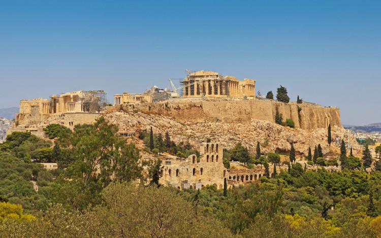 Vệ thành Athens, quan sát từ ngọn đồi Philopappou.