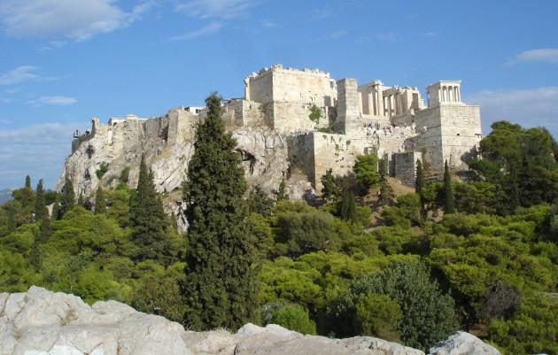 Quang canh Vệ thành nhìn từ Areopagus.