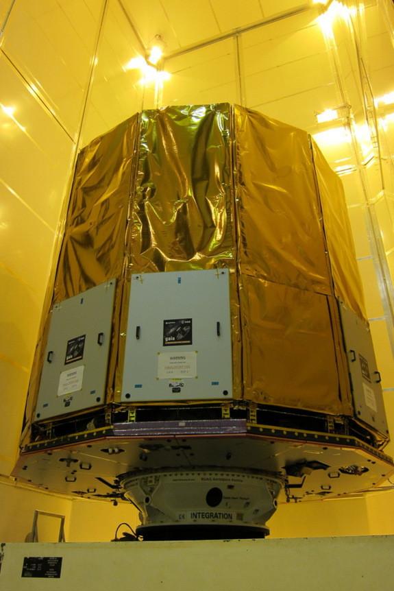 Đây là một trong những bức ảnh hiếm hoi về tàu vũ trụ Gaia ba năm trước,