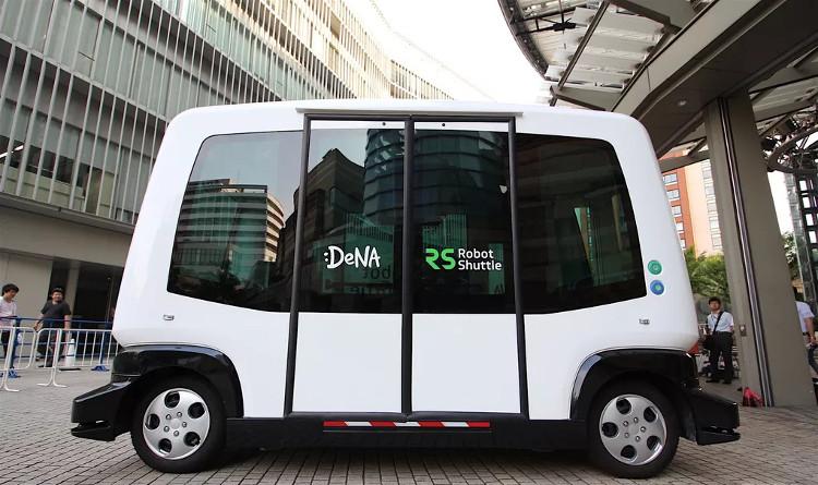 Robot Shuttle là mẫu xe buýt chạy bằng điện.